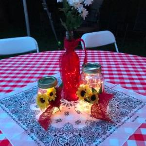 Lighted Wine Bottles & Mason Jars