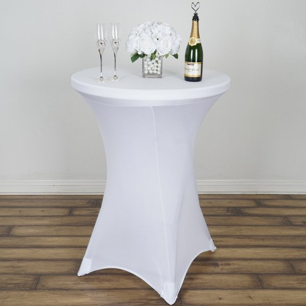 White Spandex Table Linen
