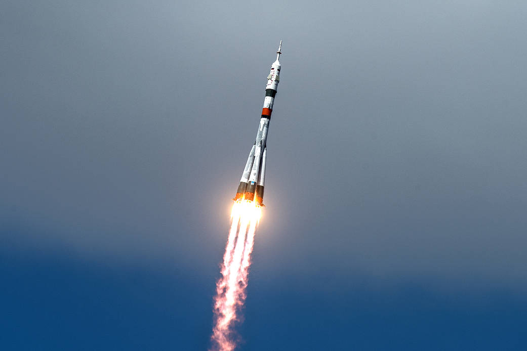 The Soyuz MS-16 Blasts Off Toward The Space Station
