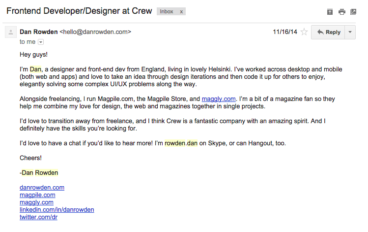 Five Examples Of Covering Emails Which Landed Jobs