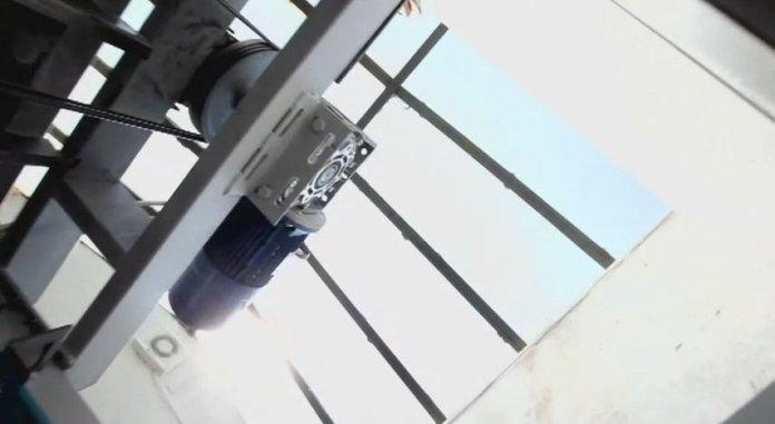 Mezolift Main Shift Ropes and Gear Box Solar Elevator/Lift