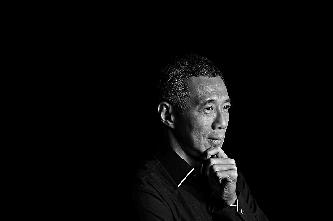 Portrait photography of Singapore Prime Minister Lee Hsien Loong by Alan Lim