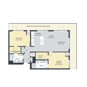 Two Bedroom 2L Floor Plan