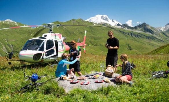 helicopter bike picnic