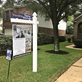 custom real estate sign austin