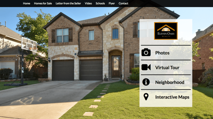 eleven oaks realty marketing plan custom website