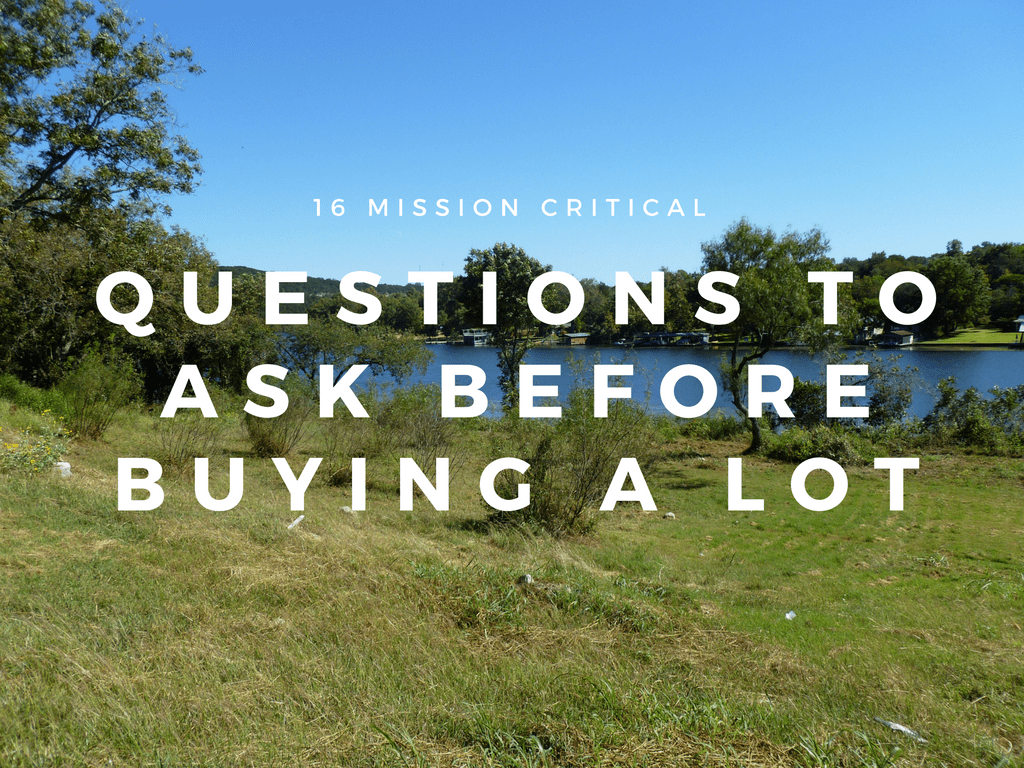 questions to ask before buying a lot in austin