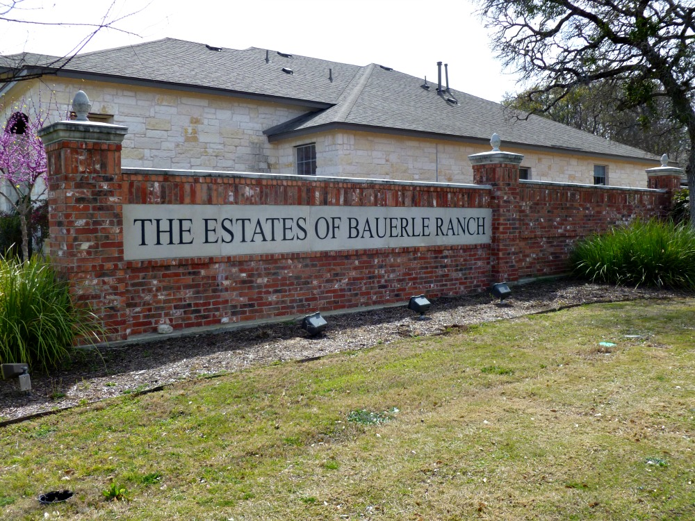 southwest austin neighborhoods lowest property tax rate best schools estates bauerle ranch