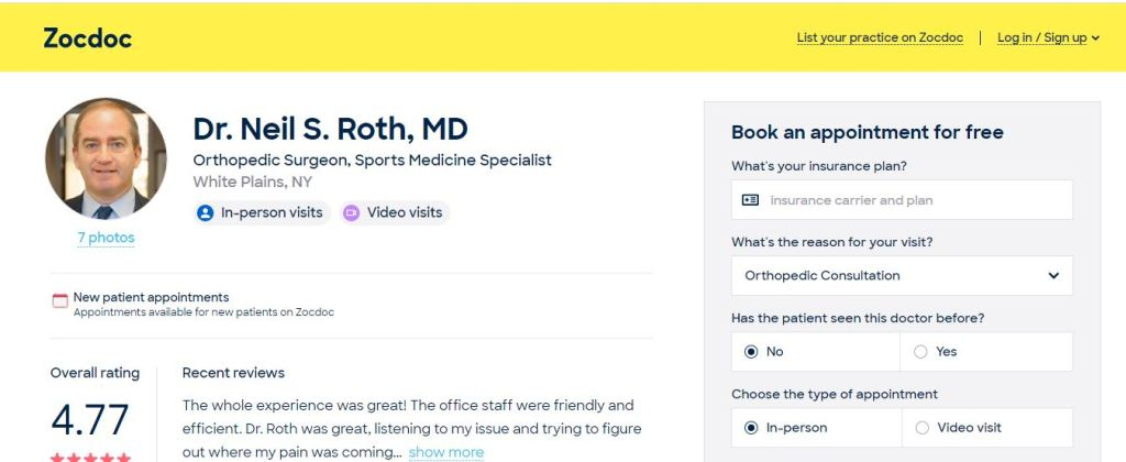 Dr. Neil S. Roth, MD