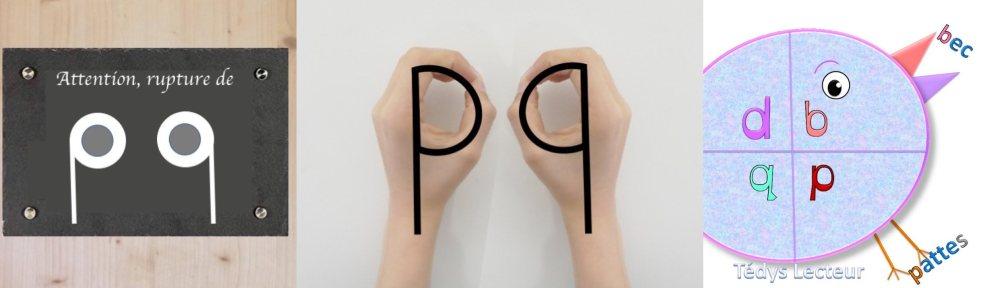 comment ne pas confondre les lettres p et q