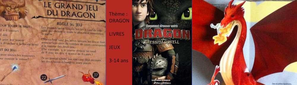 livres et jeux sur le thème des dragons