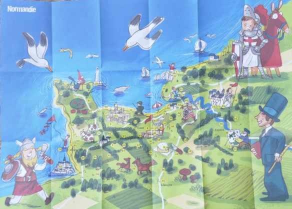 carte de la Normandie pour enfant