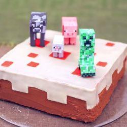 gâteau Minecraft recette