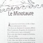 histoire du Minotaure livre enfant