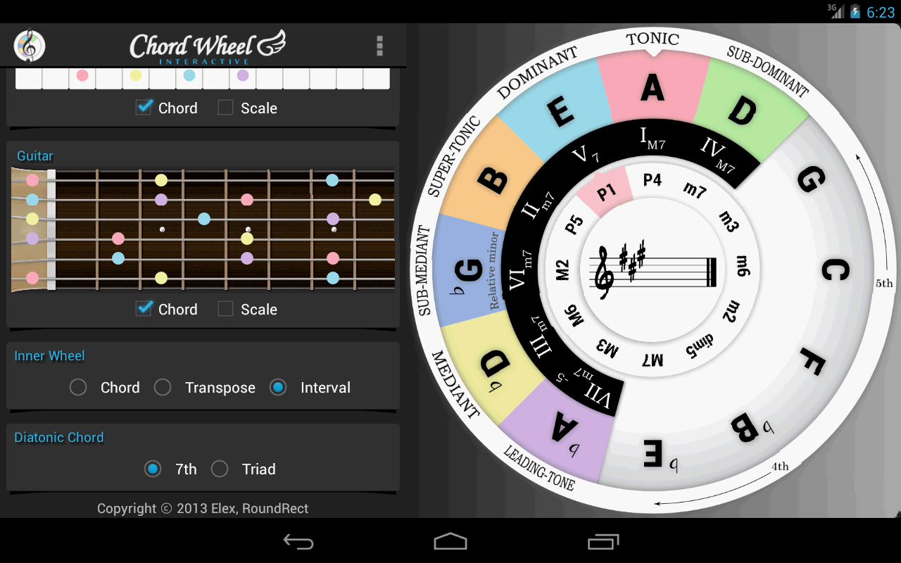 Chord Wheel Circle Of 5ths For Android