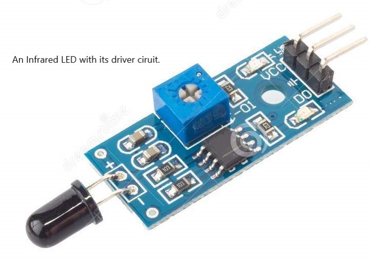 Infrared LED with driver circuit
