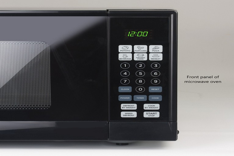 Microwave oven front panel