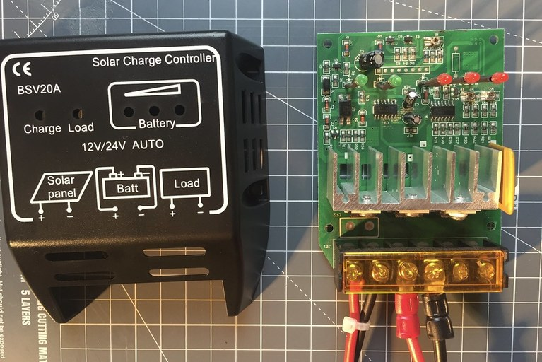 Charging controller for solar panel