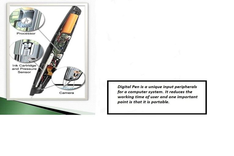 Internal structure of digital pen
