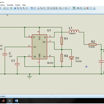 inverter circuit diagram using proteus- above 50