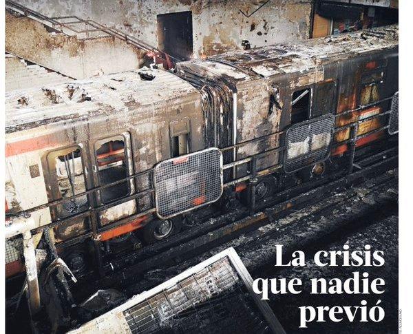 Portada de La Tercera, conocido periódico de centro derecha en Chile.