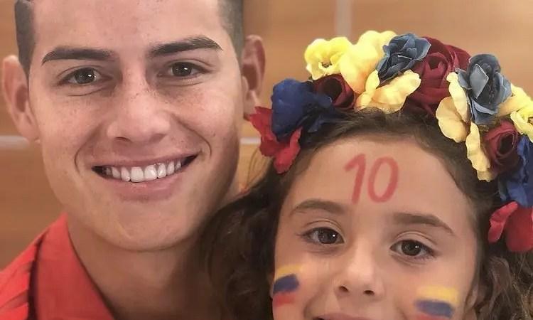 Pequeña hija de James Rodriguez sorprendió a sus millones de fans con nuevo look