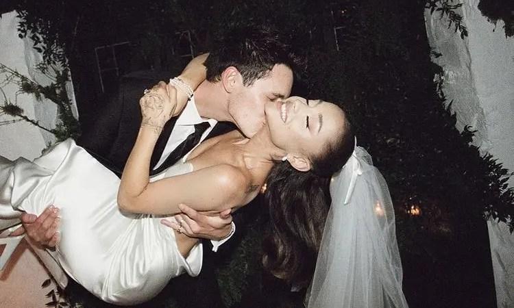 Publican fotos de la boda de Ariana Grande con Dalton Gómez