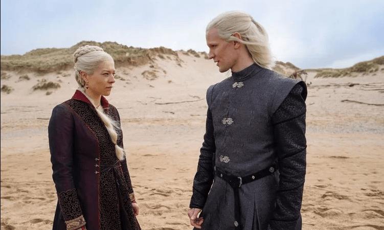 Las primeras imágenes de «House of the Dragon» revelan a unos Targaryen muy serios en la playa