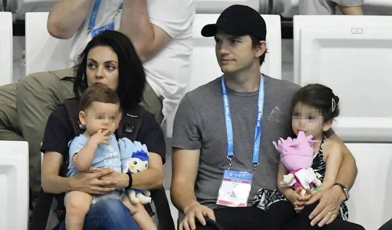 Mila Kunis y Ashton Kutcher no bañan a sus hijos a menos que tengan manchas de mugre en la piel