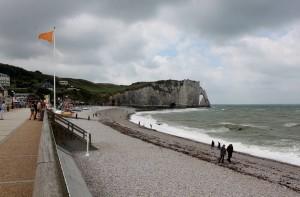 Playa de Etretat, Normandía.