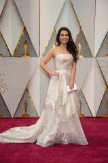 Auli'l Cravalho arrives at The 89th Oscars® at the Dolby® Theatre in Hollywood, CA on Sunday, February 26, 2017.