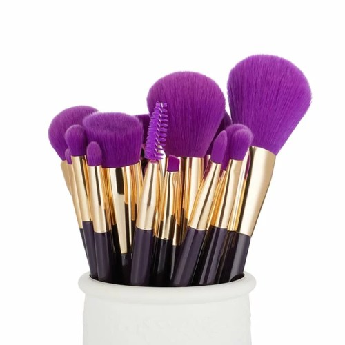 Jessup Colorful Brushes Set Purple Dark-Violet