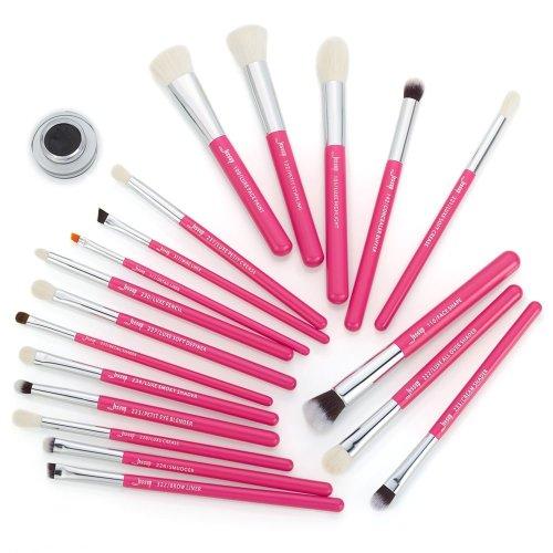 Jessup Individual Brushes Set Rose Carmine Silver T205