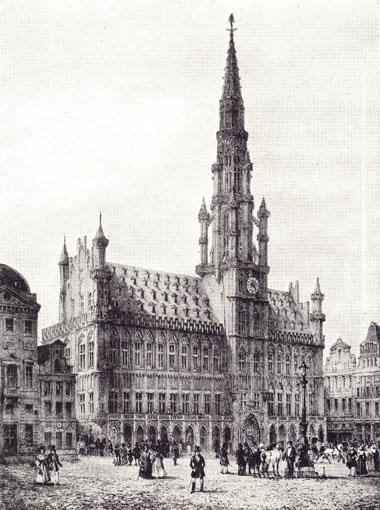 Brussels Hotel De Ville In Beautiful Buildings In France