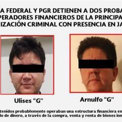 Detienen a 2 presuntos operadores financieros del CJNG