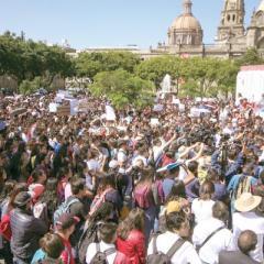Estudiantes exigen al gobernador un cese a la inseguridad
