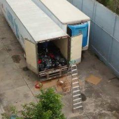 No hay registro por la renta de trailers que transportaban cuerpos