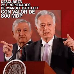 Manuel Bartlett tiene ¡25 propiedades con un valor total de 800 Millones de pesos!