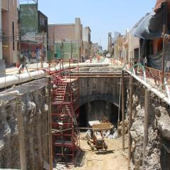 Destroza SCT pavimento de Paseo Alcalde; olvidaron instalar línea de gas en la L3