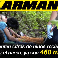 ALARMANTE: Aumentan cifras de niños reclutados en el narco, ya son 460 mil