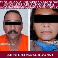 #JusticiaParaGiovanni Vinculan a proceso a Comisario y Comandanta de Ixtlahuacán de los Membrillos