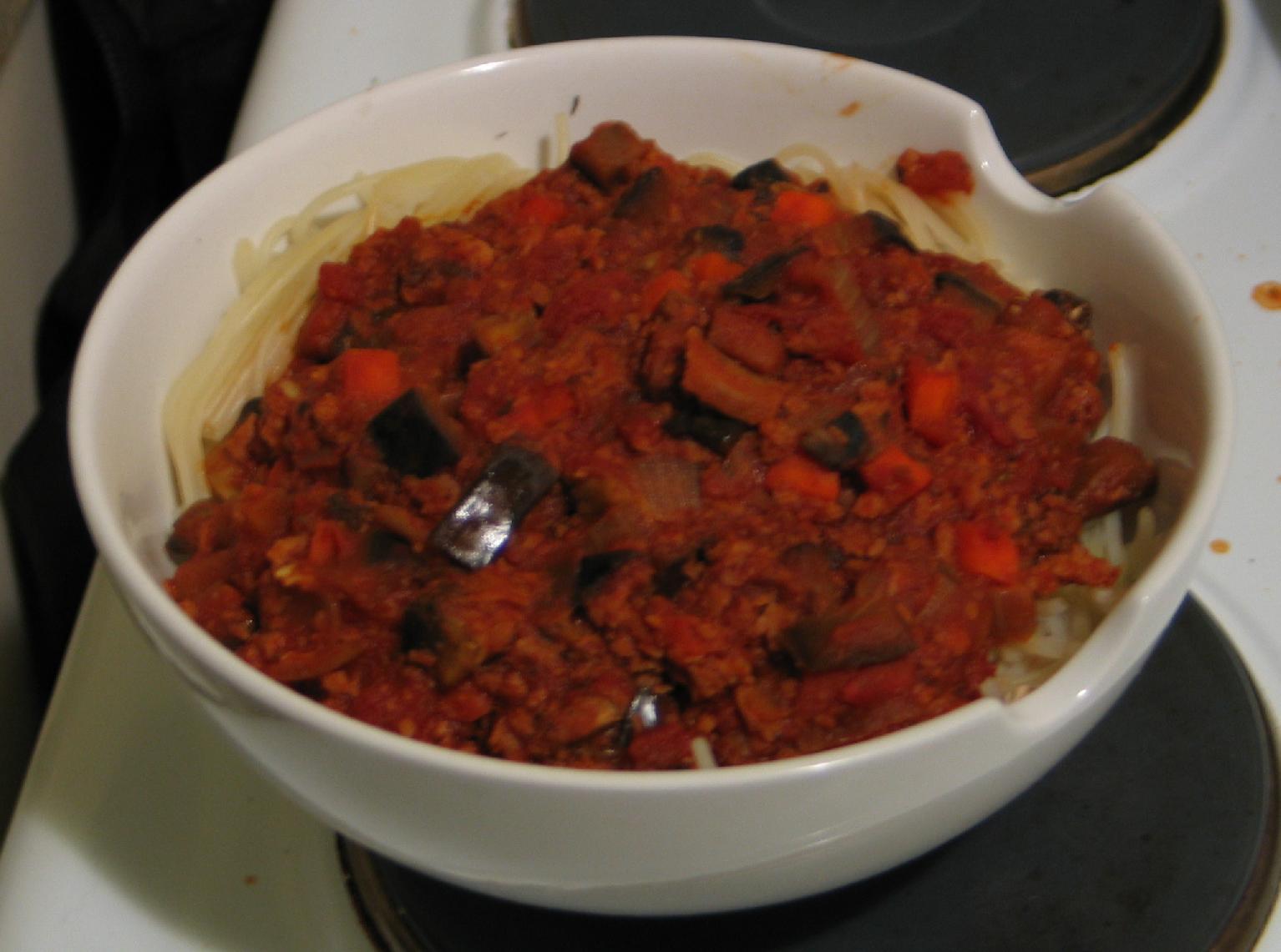 vegan gluten-free spaghetti bolognaise