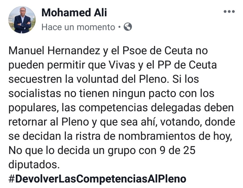 mohamed ali psoe pleno
