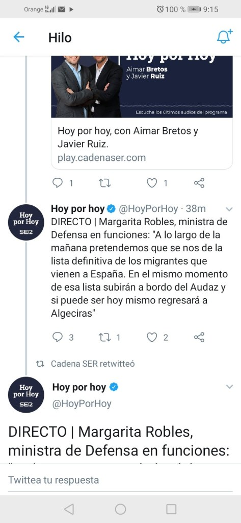 Margarita Robles, ministra de Defensa, sobre el Open Arms