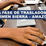 Inicia fase de traslados para régimen Sierra – Amazonía 2020 – 2021