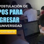 Última Postulación de Cupos para Ingresar a la Universidad