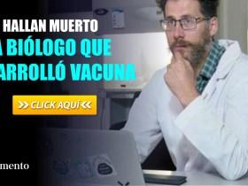 Hallan muerto a biólogo que desarrolló vacuna