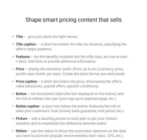 WordPress Pricing Table Plugin 8