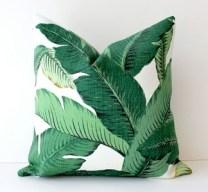 banana leaf pillow via Pinterest