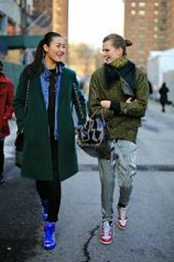 Liu Wen and Bette Franke